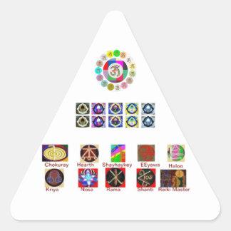 MÅNGAN avbildar konst - Reiki Holistic Karuna Triangelformat Klistermärke