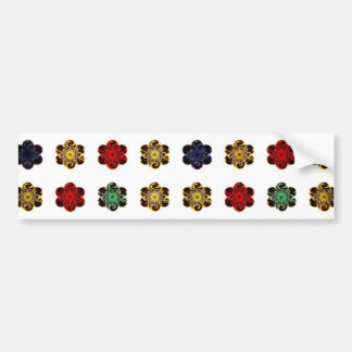 Mångfärgad blommadesign för Retro vintage Bildekal