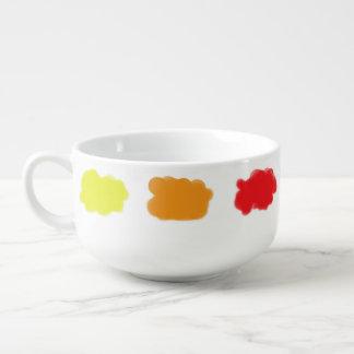 Mångfärgad Collage för behaglig palett~~ Kopp För Soppa