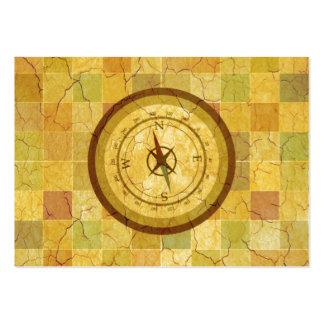 Mångfärgad kompassdesign för Retro vintage Visitkort Mallar