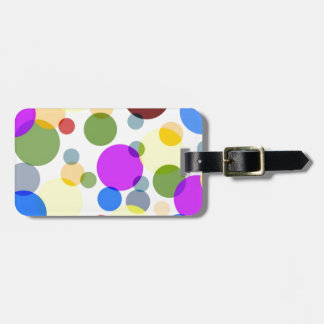 Mångfärgad polka dotsdesign bagagebricka