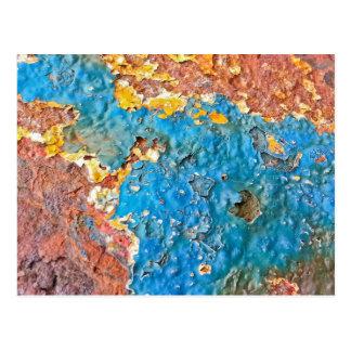 Mångfärgad rostig struktur vykort