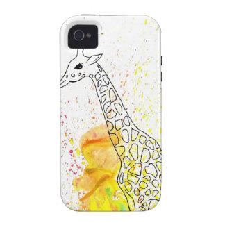 Mångfärgad skraj giraff (K.Turnbull-konst)