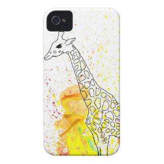Mångfärgad skraj giraff (K.Turnbull-konst) Case-Mate iPhone 4 Fodraler