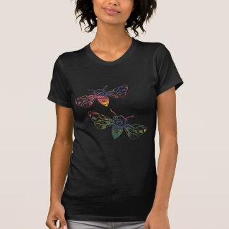 Mångfärgade Honeybeeklotter Tee Shirt