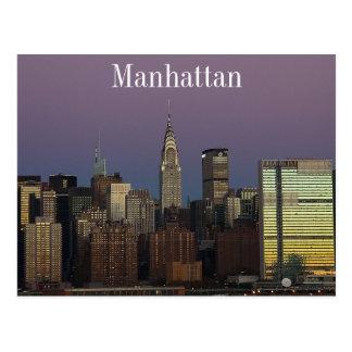 Manhattan horisont vykort