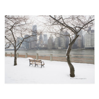 Manhattan i vintern vykort
