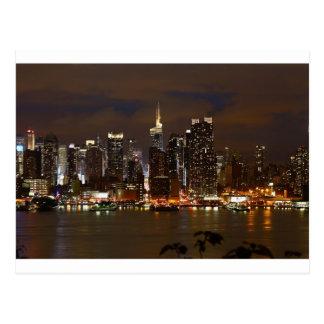 Manhattan natthorisont vykort