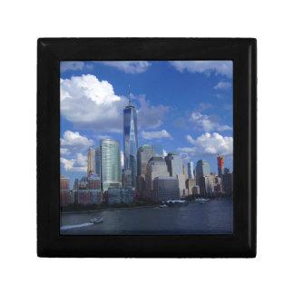 Manhattan NYC världshandel centrerar WTC Hudson Smyckeskrin