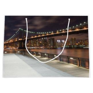 Manhattan överbryggar och NYC-horisont