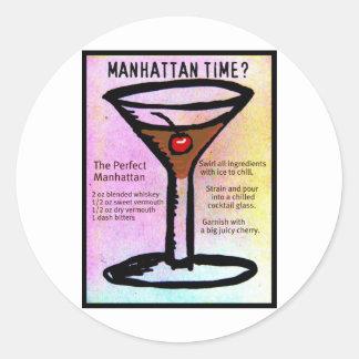 MANHATTAN TIME TRYCK med RECEPT av Jill Runt Klistermärke