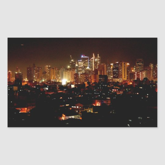 Manila Rektangulärt Klistermärke