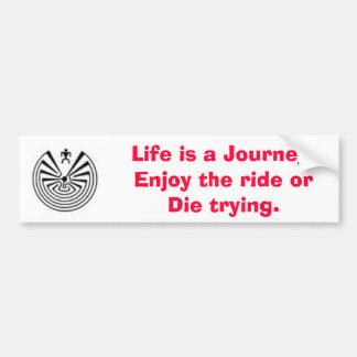 maninthemaze2 liv är en resa. Tyck om rid… Bildekal