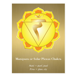Manipura eller solarplexusChakra vykort