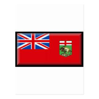 Manitoba flagga vykort