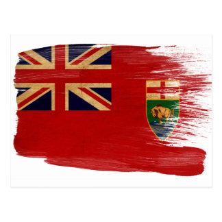 Manitoba flaggavykort vykort