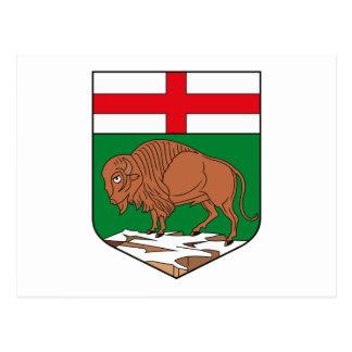 Manitoba vapensköldvykort vykort