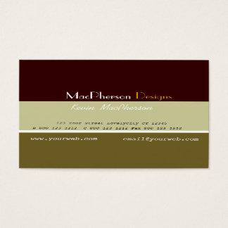 Manlig formgivare för affär visitkort