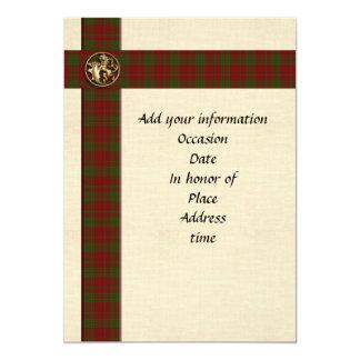 Manlig skotsk pläd för inbjudanmall 12,7 x 17,8 cm inbjudningskort