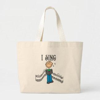 Manlign sjunger jag T-tröja och gåvor Tote Bag