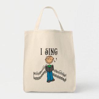 Manlign sjunger jag T-tröja och gåvor Tygkasse