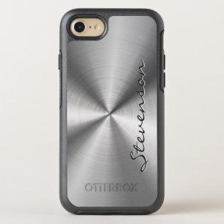 Manly metallisk radiell rostfritt stålLook OtterBox Symmetry iPhone 7 Skal