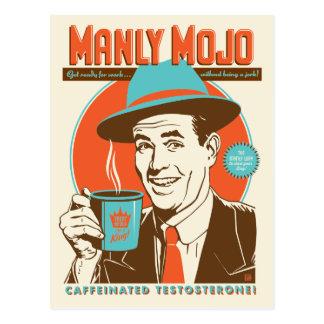 Manly Mojo kaffe Vykort