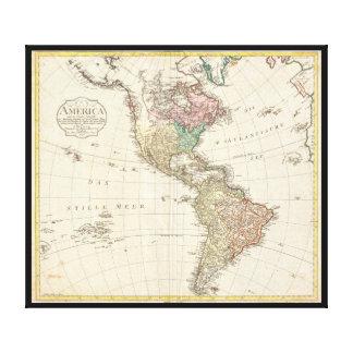 Mannert karta 1796 av norden och South America Canvastryck