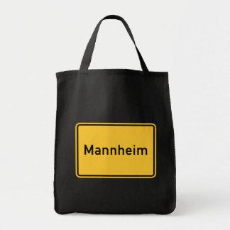 Mannheim tysklant vägmärke mat tygkasse