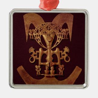 Människafigurhänge med huvudbonad julgransprydnad metall