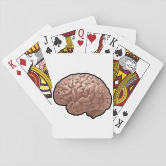 Människahjärna som leker kort spel kort