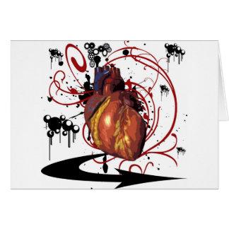 Människahjärta Hälsningskort