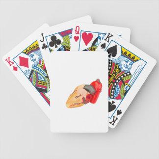 Människahjärta modellerar isolerat på vitbakgrund spelkort