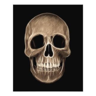 Människaskallen Halloween röntgar skelett Flygblad