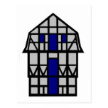 Mansardhuset - grå färg vykort
