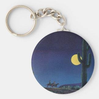 Månsken för ritt för fullmåne för rund nyckelring