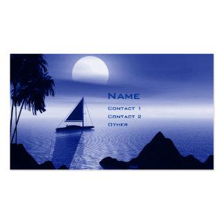 Månsken seglar set av standard visitkort