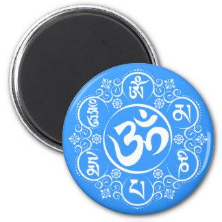 Mantra för mummel för buddistOm Mani Padme Kylskåps Magneter