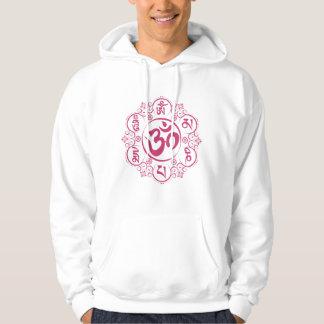 Mantra för mummel för buddistOm Mani Padme Sweatshirt Med Luva