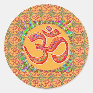 Mantra OmMantra: Perfekta riktiga heliga RobeColor Runt Klistermärke