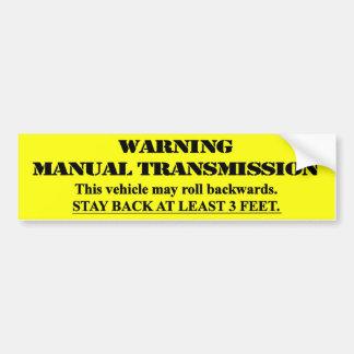 Manuell överföring för varning - stagbaksida 3 fot bildekal