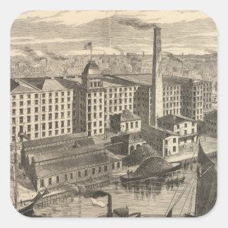 Manufactoryen av Clarks ONT köar bomull Fyrkantigt Klistermärke