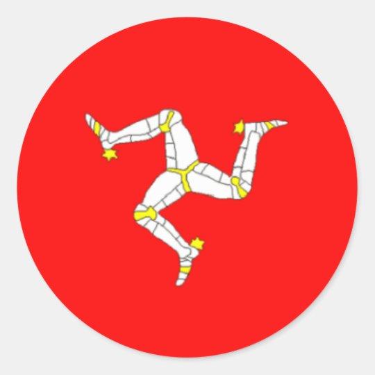 Manx flaggaklistermärke runt klistermärke