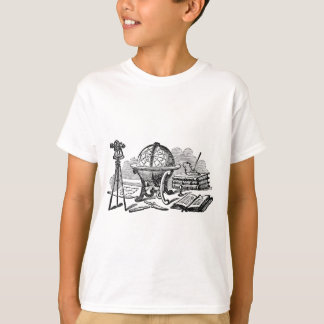 Mapmakers skrivbord - jordklot t-shirt