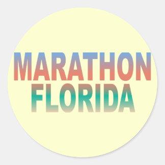 MaratonFlorida nycklar Runt Klistermärke
