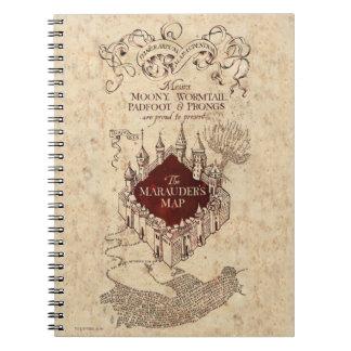 Marauders karta antecknings bok