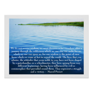 Marcel Proust - citationstecken om ATT LÄRA Poster