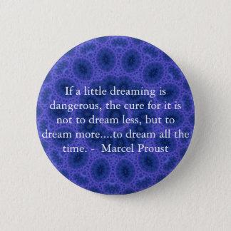 Marcel Proust citationstecken om drömmare och att  Standard Knapp Rund 5.7 Cm