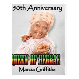 Marcia Griffiths årsdagen för Reggae Queen-50th Reklamblad 21,5 X 30 Cm