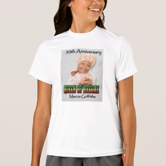 Marcia Griffiths årsdagen för Reggae Queen-50th Tee Shirts